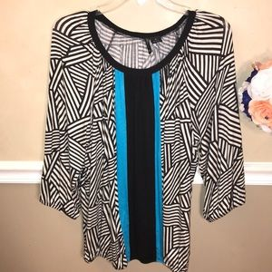 New Directions geo print banded top